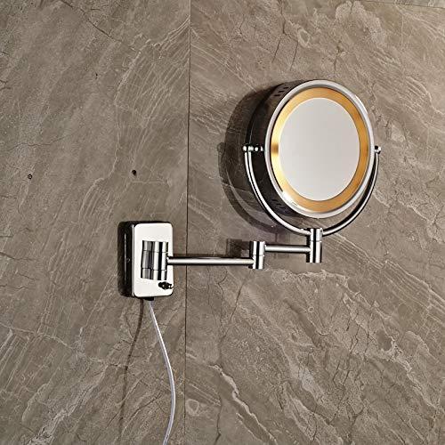 NGHXZ make-up spiegel wandspiegel wandspiegel wandspiegel badkamerspiegel van verchroomd messing met licht