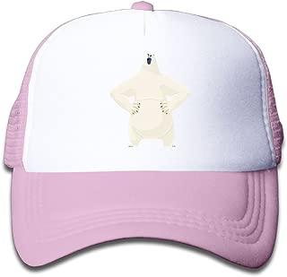 NO4LRM Kid's Boys Girls Corporal Polar Bear Youth Mesh Baseball Cap Summer Adjustable Trucker Hat