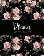 Planner July 2021 to June 2022: Week to View Weekly and Monthly Organizer, Mid Year Planner Diary Large Size 8.5 inches x11inches