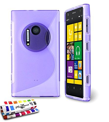 MUZZANO Original S-Cover Flessibile, per Nokia Lumia 1020, Colore: Viola