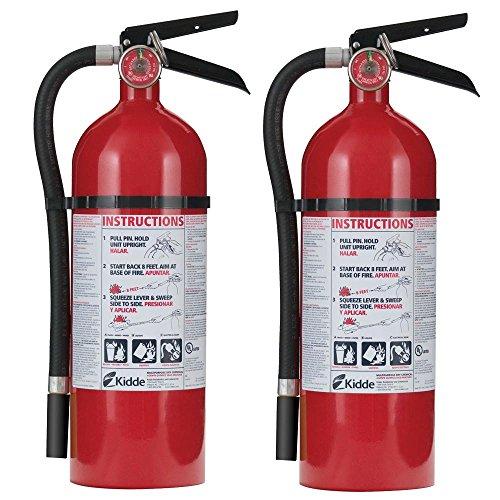 Kidde 21027303 Pro 210 2-A-10-B:C Fire Extinguisher Twin Pack