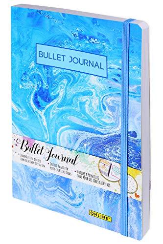 ONLINE Bullet Journal, Aquarell, Dotted-Notizbuch mit Soft Cover, Gummiband, DIN A5, 90g/m² FSC Papier, 192 Seiten