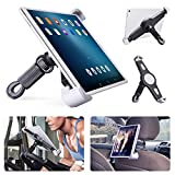Tablet Halterung Heimtrainer, Tablet Halter Fahrrad für Spinning/Laufband, Auto Kopfstütze Mikrofonständer mit 360° Drehbar Tablet Ständer für iPad Pro Air, Anderen 9,5-15,7 Inch Tablets