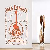 Jack Jennessee Daniel's Old NO.7 Logotipo de la marca Etiqueta de la botella de vino Etiqueta de la pared Calcomanía de vinilo Dormitorio Sala de estar Cocina Música Bar KTV Discoteca Decora