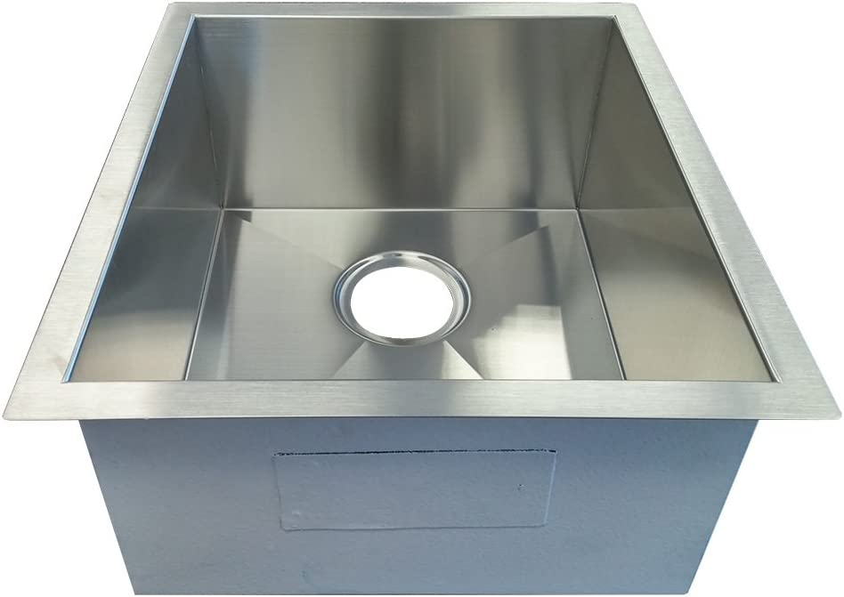 Ranking TOP16 SFC F4045 Undermount Square Single Gaug 18 Steel Sink Stainless At the price of surprise
