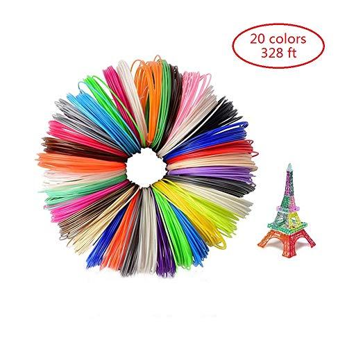Page DryFFAWs 3D Pen Filament Refills PCL 1.75mm 3D Printing Pen Filament 3D Printer Filament for Most Intelligent 3D Pen Total 328 Feet