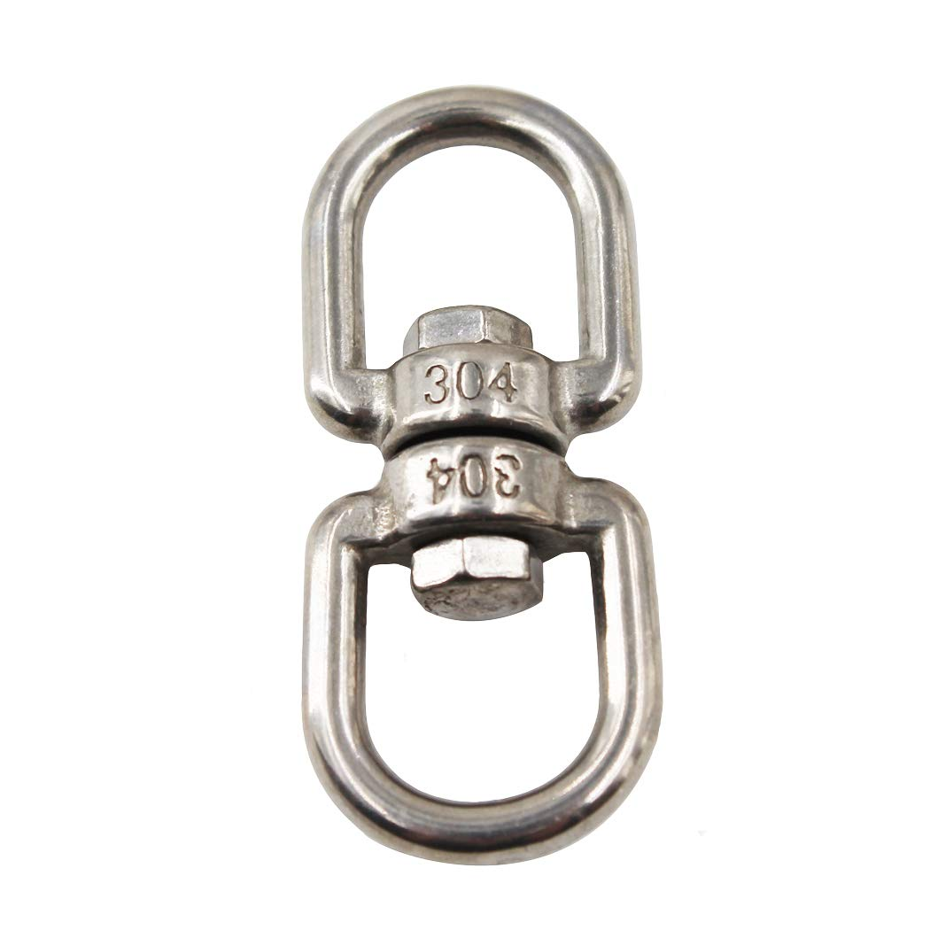 304 Stainless Steel Eye to Eye Swivel Ring,M4 5//32 Key Ring Keychain Connectors for Anchor Chain 5PCS