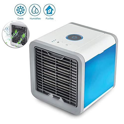 GMACCE Mini Enfriador de Aire, Ventiladores de Espacio, Ventiladores humidificadores evapolar portátiles, Velocidad de 3 velocidades, humidificador y purificador de oficinas