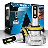NOVSIGHT Ampoules LED H11(H8/H9) Phare de Voiture 10000LM/Paire 50W/Paire Kit de Conversion Ampoules pour Voiture Auto 6500K Blanc Etanche