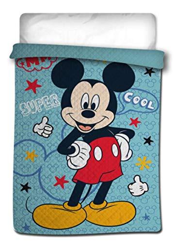 Disney Summer Quilt - Colcha Copriletto Licencia Mickey Mouse & Friends 180x260 cms (Cama 90)
