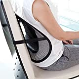Truwiser Universal Black Back Lumbar Support Cushion For Chair And Cars