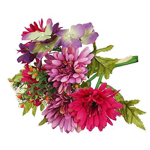 YWLINK KüNstliche Blume Simulation Chrysanthemum Daisy Hochzeitsstrauß Brauthortensie-Dekor Party Warm Speichern Cafe Strand Garten Dekoration Pflanze