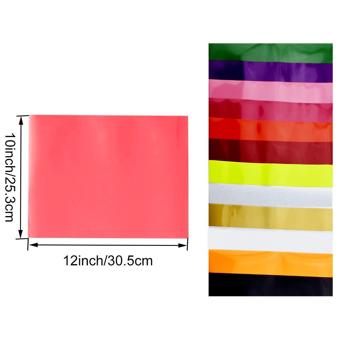 Vinilo de transferencia de calor para tela de camisetas - 16 hojas de colores surtidos - Hierro en HTV Kit de inicio de color vinilo para Cricut y Silhouette Cameo, 30x25cm: Amazon.es: Hogar