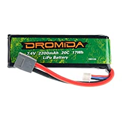 Stock replacement battery for the Dromida XL 370 UAV Drone Great to have on hand so you can continue your flying fun even longer! Requires a charger with balance capabilities.