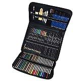 Gobesty Malette Dessin, crayon aquarellable de 72, crayons de couleurs adultes, kit dessin professionnel, Professionnel pour les Artistes Débutants, Idéal Cadeaux pour étudiant Artiste Adulte Enfant