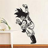 Tianpengyuanshuai Wukong Vinilo Pared Pegatina niño Manga Dibujos Animados Anime hogar habitación decoración Arte extraíble Pared Pegatina 57x33cm