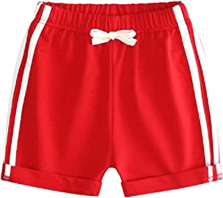 Macondoo Boys and Girls Sport Linen Easy Fit Tie Waist Pull-On Shorts