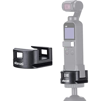 Ulanzi Osmo Pocket 三脚アダプター for ワイヤレスモジュール 三脚/クリックシュー 2-wayマウント OSMO POCKETのWIFIホルダーに対応