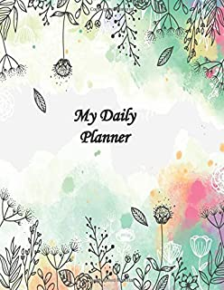 My daily Planner: Daily Goals Notbook / To do list notepad for tracking daily activities.- Letter 8.5x11Inch 100 Pages