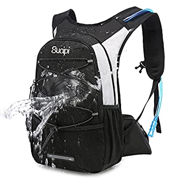 Sucipi Hydration Backpack Pack with 2L BPA Water Bladder Hiking Backpack for Men and Women Kids Water Backpack