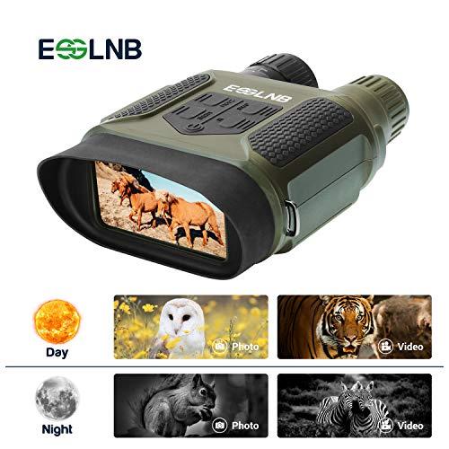 ESSLNB Digital de Visión Nocturna Prismáticos 7x31 con 2' TFT LCD Pantalla y 8GB TF Tarjeta Foto Cámara Vídeo Grabadora Función de Reproducción