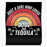 Póster de tequila de tequila con texto en inglés 'Shots Bourbon Gin Whisky Tequila Tacos De Mayo', licor Cinco Decoración para el hogar