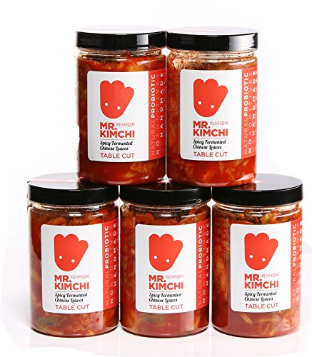5 X 330g GET 1 Free Jar Freshly UK- Made Kimchi Based on Authentic Korean Recipe (Natural Fermentation, Natural Probiotics, No Artificial Additives)