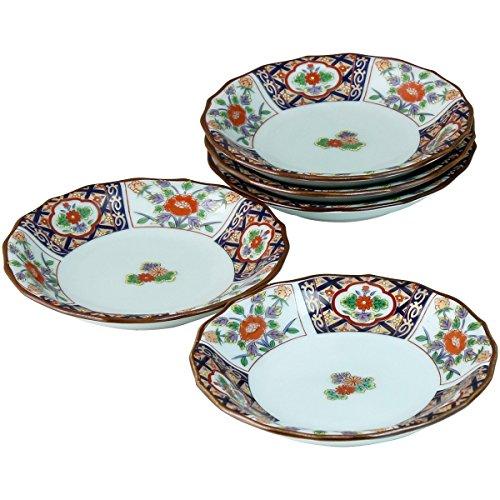 Arita-yaki Pheonix & flowers 5 dishes set by Ranchant
