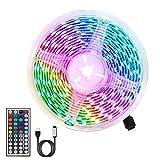 LED Strip,RGB LED Strip 3m LED Lichtleiste 180 LEDs 5050 RGB Flexibles Schneidbares 20 Farben 6 Modi mit USB-Schnittstelle und Fernbedienung 44 Tasten,Für Heim- und Hochzeitsdekoration