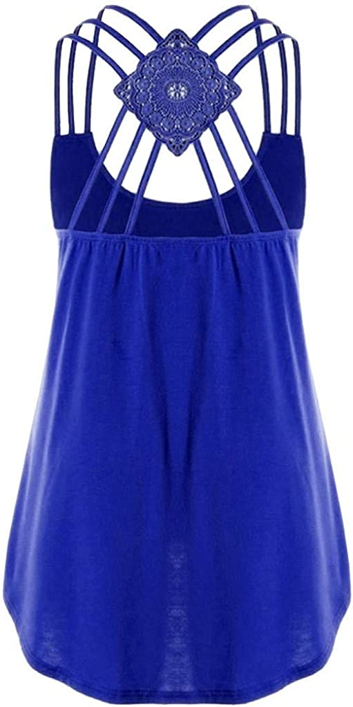 Sleeveless Tops for Women Sexy Pottseth Womens Crop Top Sexy Letter Printed Shirts Sleeveless Workout Blouse Loose Tank Soft Camisoles Tee Blue