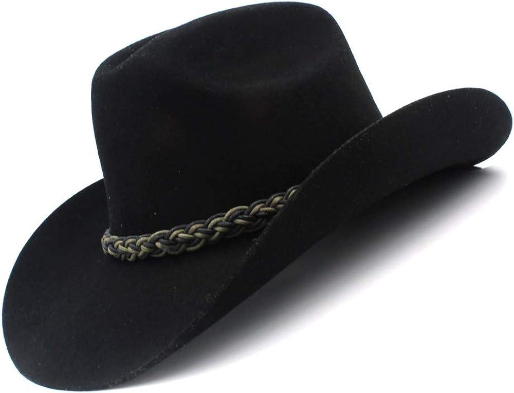 LLPBUA-HAT 5 ☆ very popular 100% Wool Women Men Hat Gentlem Cowboy Cheap SALE Start Western Hollow