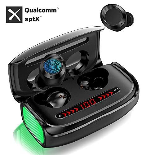 Auricolari Bluetooth 5.0 Cuffie Senza Fili Wireless Cuffie Sport in Ear Deep Bass 3D Stereo Sound Riduzione del Rumore con CVC 8.0 3000mAh 170H Playtime Touch Control con Mic LED Display Digitale