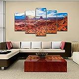 Cuadro sobre Impresión Lienzo 5 Piezas El Gran Cañón de Monument Valley HD Abstracta Imágenes Modulares Sala De Estar cuadro decorativo abstracto salon dormitorio Decoración para El Hogar 100X55Cm