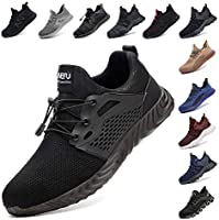 Safety Shoes for Men Steel Toe Cap Trainers Womens Lightweight Work Boots Mesh Breathable Sneakers Black Blue Grey Green...