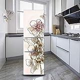DEENLI Pegatinas Neveras, Acuarela, Hermosa Flor,Etiqueta De Renovación De Refrigerador Viejo