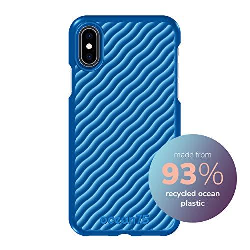 Ocean75 Umweltfreundlich Designed für iPhone X, iPhone XS Hülle, Ozean-inspirierte nachhaltige Handyhülle aus recycelten Fischernetzen - Ozean Blau
