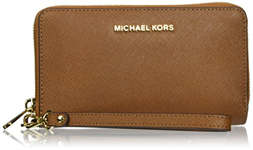 Michael Michael Kors Jet Set Travel Large Flat Multifunction Phone Case Luggage One Size