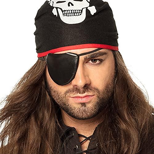 Boland 74195 - Kopftuch Thomas mit Augenklappe, Einheitsgröße, Piratenkostüm, Karneval, Themenparty, Mottoparty