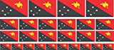 Mini Aufkleber Set - Pack glatt - 4x 51x31mm+ 12x 33x20mm + 10x 20x12mm- Sticker - Papua-Neuguinea - Flagge - Banner - Standarte fürs Auto, Büro, zu Hause & die Schule - Set of 26
