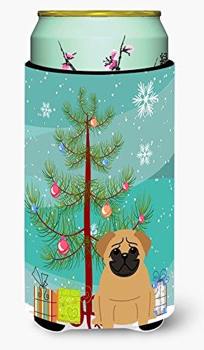Caroline's Treasures BB4132TBC - Aislador para Bebidas con diseño de árbol de Navidad, Color marrón
