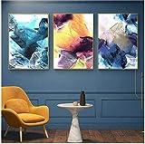 Cuadro de lienzo de estilo nórdico de Refosian, carteles abstractos e impresiones, cuadro de pared para la decoración del hogar de la sala de estar, 40x50 cm / 15,7x19,6 en sin marco