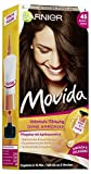 Garnier Tönung Movida Pflege-Creme / Intensiv-Tönung Haarfarbe 45 Dunkelbraun (für leuchtende Farben, auch für graues Haar, ohne Ammoniak) 3er Pack Haarcoloration-Set