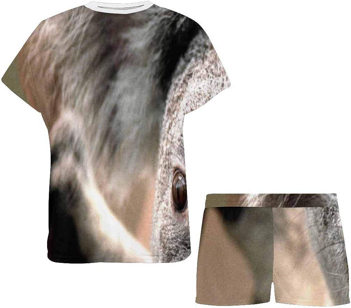 INTERESTPRINT Koala Cute Animal Women's Pajama Sets Short Sleeve Shorts - Pajamas for Women
