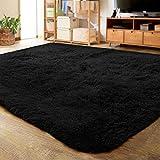 LOCHAS Ultra Soft Indoor Modern Area Rugs Fluffy Living Room Carpets for Children Bedroom Home Decor Nursery Rug 5.3x7.5 Feet, Grey Purple
