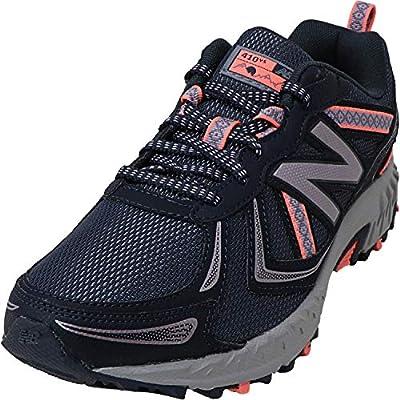 New Balance Women's 410 V5 Trail Running Shoe, Thunder/Gunmetal/Fiji, 9 M US