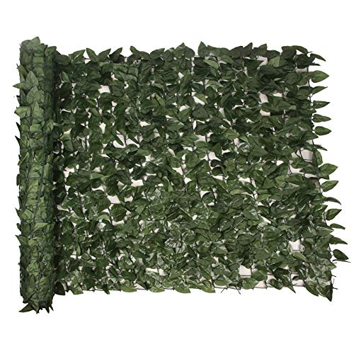 UpdateClassic Artificial Privacy Fence Screen Peach Leaf, 157' x 39' Faux Hedge Leaf & Vine Privacy Fence, Decoration for Outdoor Garden Porch Patio Yard