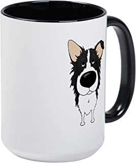 CafePress Big Nose/Butt Border Collie Large Mug Coffee Mug, Large 15 oz. White Coffee Cup