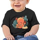 301 Poke Sleeping Charmander Baby Short Sleeve T-Shirt Boys Girls Infant Toddler Tee