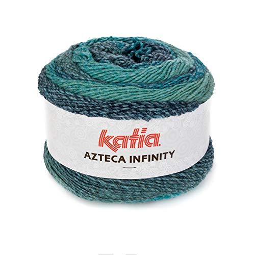Katia Azteca Infinity - Farbe: Azules/Verdes (504) - 150 g/ca. 480 m Wolle