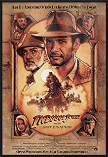 Indiana Jones and The Last Crusade - Framed Movie Poster/Print (Regular Style) (Size: 27 inches x 40 inches)
